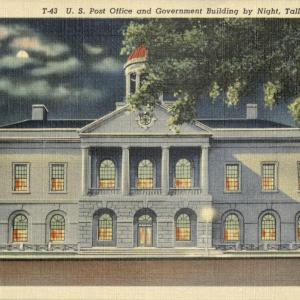 Tallahassee, FL, U.S. Post Office and Government Building by Night