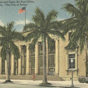 Fort Myers, FL, Royal Palms and Open Air Post Office
