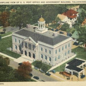 Tallahassee, FL, Airplane View of U.S. Post Office and Government Building
