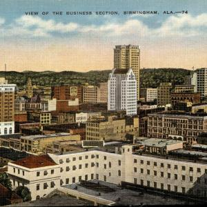 Birmingham, AL, View of the business section