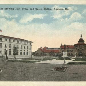 Augusta, GA, Barrett Plaza showing post office and Union Station
