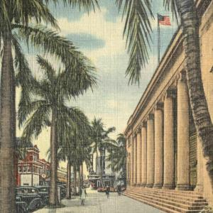 Fort Myers, FL, Tropical View showing Open Air Post Office